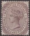 Mauritius 1880 QV 2r 50c Brown-Purple Mint SG100 cat £55 faults