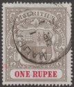 Mauritius 1902 KEVII 1r Grey-Black and Carmine Used SG153 cat £55