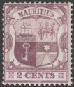 Mauritius 1905 KEVII 2c Dull and Bright Purple Chalky wmk Multi CA Mint SG165a