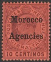 Morocco Agencies 1905 KEVII 10c Dull Purple on Red Ordinary Mint SG25