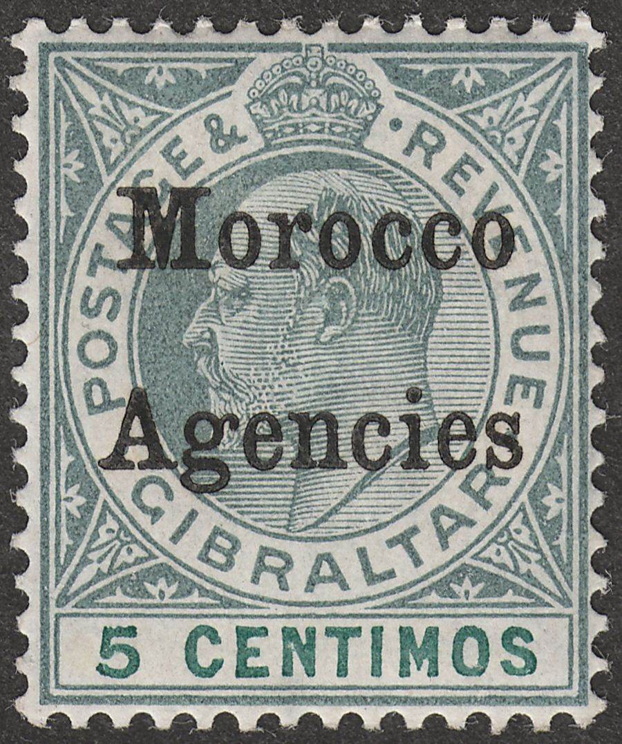 Morocco Agencies 1905 KEVII 5c Grey-Green and Green Ordinary Mint SG24