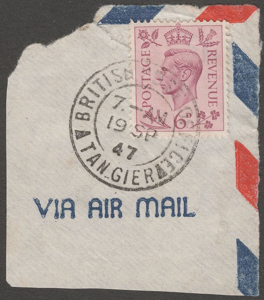 Morocco Agencies 1947 KGVI 6d Purple Used Tangier Postmark SG Z186