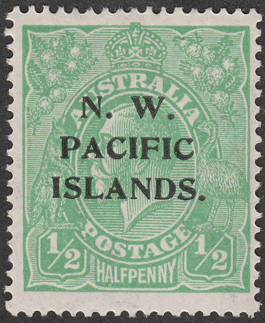 New Guinea 1919 KGV Head ½d Green wmk Multi Inverted Mint SG119w