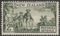New Zealand 1936 KGV Captain Cook 2sh Olive-Green p13-14x13½ Mint SG589