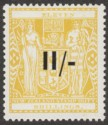New Zealand 1940 wmk Single Postal Fiscal 11sh Opt Yellow Mint SG F189