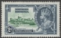 Northern Rhodesia 1935 KGV Silver Jubilee 2d Diagonal Line by Turret Mint SG19f