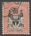 British Central Africa 1895 QV 4d Black and Reddish Buff Used SG23