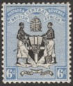 British Central Africa 1895 QV 6d Black and Blue Mint SG24