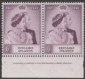 Pitcairn Islands 1949 KGVI RSW 10sh Mauve Imprint Pair Mint SG12