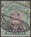 Rhodesia 1919 KGV Admiral 8d Mauve and Dull Blue-Green? Used SG267 cat £70
