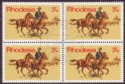 Rhodesia 1970 Posts and Telecoms 2½c Four Block Variety