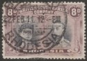 Rhodesia 1910 KGV Double Head 8d Grey-Black and Dull Purple p13½ Used SG185