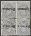Rhodesia 1909 KEVII Mono Arms 2sh6d Overprint Inverted Block Used SG108b cat £96