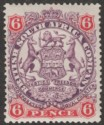 Rhodesia 1896 QV BSAC Large Arms 6d Mauve and Rose Mint SG46