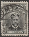 Rhodesia 1913 KGV Admiral 2d Black and Grey Die I p14 Used SG209
