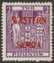 Samoa 1955 Postal Fiscal £2 Bright Purple Mint SG235