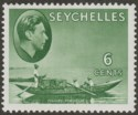 Seychelles 1941 KGVI Pirogue 6c Grey-Green Chalky Mint SG137a
