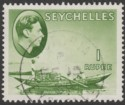 Seychelles 1938 KGVI Pirogue 1r Yellow-Green Used SG146