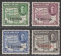 Somaliland Protectorate 1951 KGVI 1sh - 5sh Surcharge Mint SG132-135 cat £50