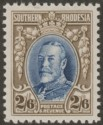 Southern Rhodesia 1931 KGV Field Marshal 2sh6d Blue and Drab perf 12 Mint SG26