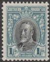 Southern Rhodesia 1935 KGV Field Marshal 1sh Black + Green Blue p11½ Mint SG23a