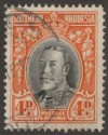 Southern Rhodesia 1937 KGV Field Marshal 4d Black and Vermilion p14 Used SG19b