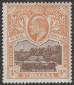 St Helena 1903 KEVII 1sh Brown and Brown-Orange Mint SG59