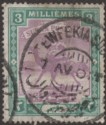 Sudan 1901 QV Camel Postman 3m Mauve and Green Used with TEWFEKIA D3 Postmark