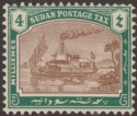 Sudan 1926 KGV era Postage Due 4m Brown and Green on Chalky Paper Mint SG D6a