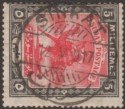 Sudan 1917 Camel Postman 5m Scarlet and Black Used with SINKAT Proud D2 Postmark