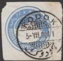 Sudan 1904 KEVII 1p Overprint Postal Stationery Cutout Used with KODOK Postmark