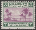 Sudan 1941 KGVI Tuti Island 3m Mauve and Green Mint SG83