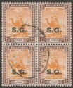 Sudan 1948 KGVI Camel Postman SG Opt 2m Chalky x 4 Used SG O33a cat £280