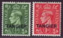 Morocco Agencies Tangier 1944 KGVI Pale Colours ½d and 1d Mint SG251-SG252