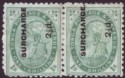 Tonga 1894 KGI 2½d on 1sh Surcharge stop / no-stop Pair Mint SG24b SG24ba