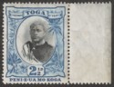 Tonga 1897 King George II 2½d No Fraction bar in ½ wmk Sideways Mint SG43ba