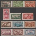 Syria 1926 War Refugees Fund Surcharge Short Set Unused SG196-207 with thins