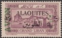 Syria Alaouites 1926 Airmail Overprint on Lebanon 5p Colour Trial Mint SG42b